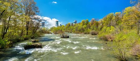 The Niagara river seen from Goat Island - New York, USA