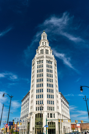 Electric Tower, a historic office building in Buffalo, NY, USA. Built in 1912 Stock Photo