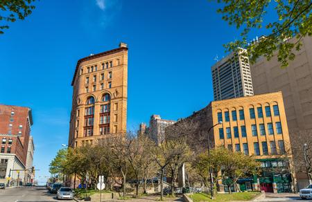 バッファロー - ニューヨーク、アメリカのダウンタウンの建物 写真素材