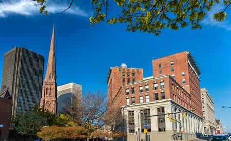 버팔로 - 뉴욕, 미국 시내 건물 스톡 콘텐츠