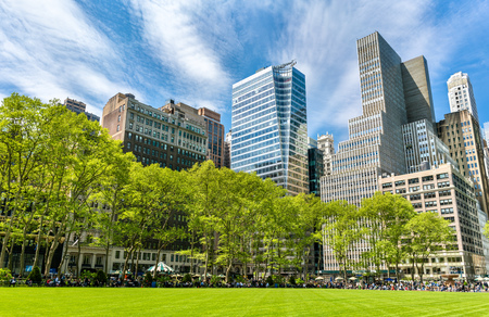 newyork: Buildings at Bryant Park in New York City