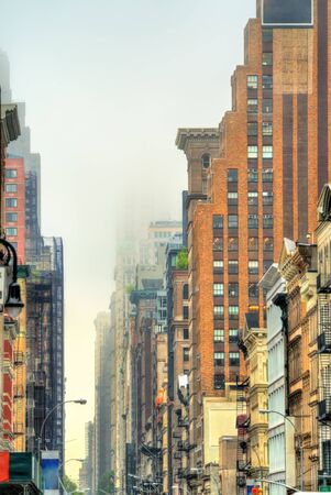 broadway tower: Old buildings on Broadway in New York City