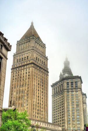 Thurgood Marshall United States Courthouse and Manhattan Municipal Building in New York City