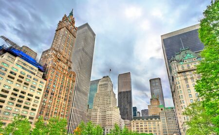 fifth avenue: Skyscrapers on Grand Army Plaza in Manhattan, New York City Stock Photo