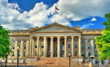 US Treasury Department building in Washington, DC