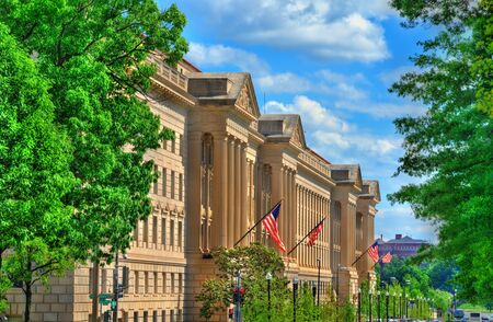 The United States Department of Commerce in Washington, D.C. Stock Photo