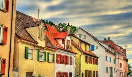 Typical half-timbered houses in Tubingen - Baden Wurttemberg, Germany Stock Photo