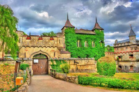 Entrance to Lichtenstein Castle in Baden-Wurttemberg, Germany