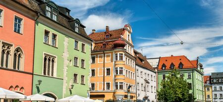 bayern old town: Buildings in the Old Town of Regensburg, Germany
