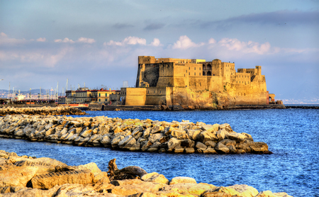 Castel dellOvo, a medieval fortress in the bay of Naples, Italy