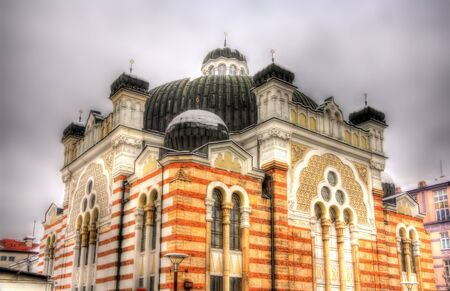 sephardic: Sofia Synagogue, the largest synagogue in Southeastern Europe - Bulgaria Stock Photo