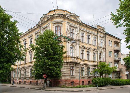 Historic building in the Ivano-Frankivsk city center Stock Photo