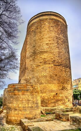 Maiden tower, a landmark in Baku - Azerbaijan