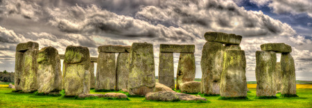 Stonehenge, a prehistoric monument in Wiltshire, England Stock Photo