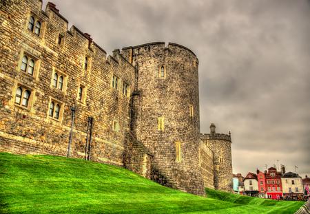 Walls of Windsor Castle near London, England 스톡 콘텐츠