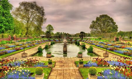 Pond in front of Kensington Palace - London, England