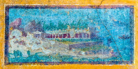 An ancient roman fresco in Pompeii - Italy