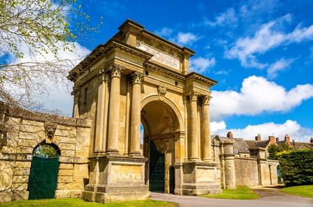 marlborough: Ancient gate in Woodstock, Oxfordshire - England