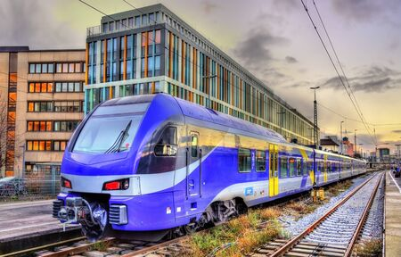 Local train at Munich Main Station - Germany Editorial