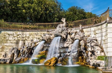 Fontana dei Delfini, the Fountain of the Dolphins, at the Royal Palace of Caserta, Italy