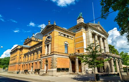 View of the National Theatre in Oslo - Norway