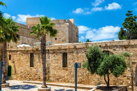 Citadel of Acre, an Ottoman fortification in Israel. Old town of Acre is a UNESCO Heritage Site
