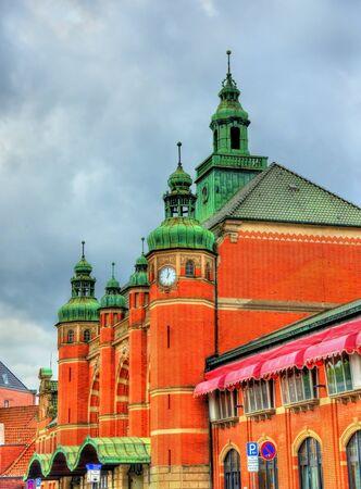 Lubeck Hauptbahnhof, the main railway station of Lubeck - Germany Stock Photo