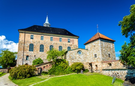 Akershus Fortress, a medieval castle in Oslo, Norway Stock Photo