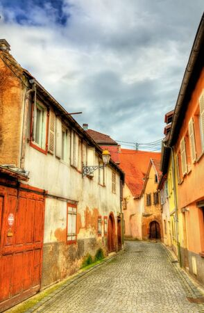 Traditional Alsatian houses in Molsheim - Bas-Rhin, France