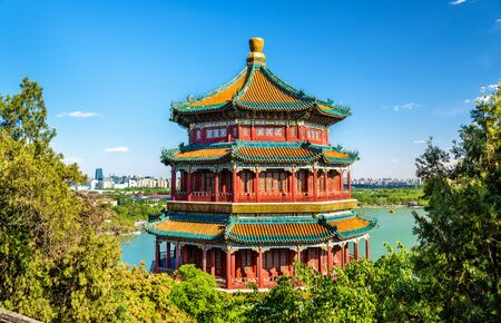 Tower of Buddhist Incense in the Summer Palace - Beijing, China