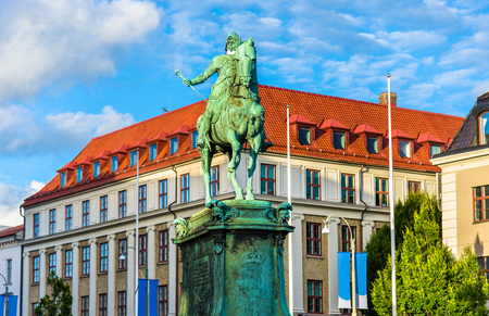 Equestrian statue of King Karl IX of Sweden in Gothenburg