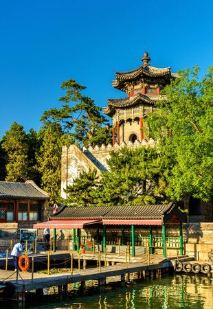 Pavilions at the Summer Palace in Beijing, China