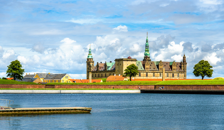 View of Kronborg Castle from Helsingor port in Denmark