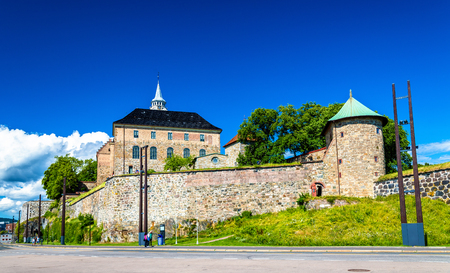 Akershus Fortress, a medieval castle in Oslo, Norway Reklamní fotografie