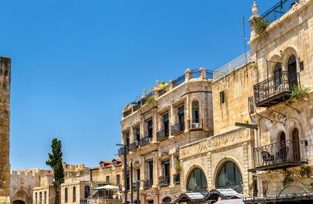 Buildings in the Armenian Quarter of Jerusalem - Israel Stock Photo
