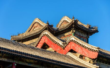 Details of pavilions at the Summer Palace in Beijing, China Stock Photo