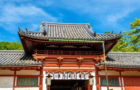 View of Tamukeyama Hachimangu Shrine in Nara, Japan