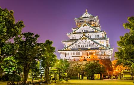 Night view of Osaka Castle in Osaka, Japan