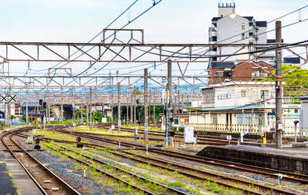 View of Oji Station in Nara, Japan