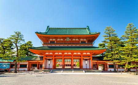 오 텐몬 교토의 헤이안 신사의 정문 - 일본 스톡 콘텐츠