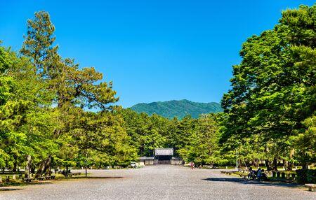 Inside Kyoto Gyoen National Garden in Japan Stock Photo