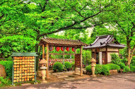 Details of Zojo-ji Temple in Tokyo, Japan Editorial