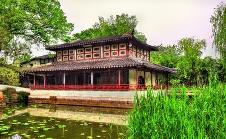 Humble Administrators Garden, the largest garden in Suzhou, China. UNESCO heritage site.