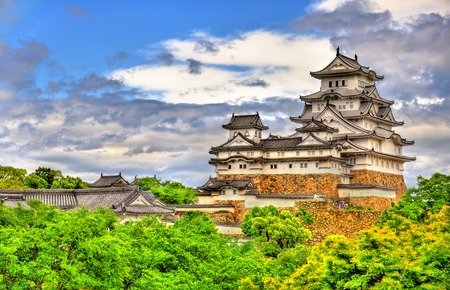 Himeji Castle in the Kansai region of Japan