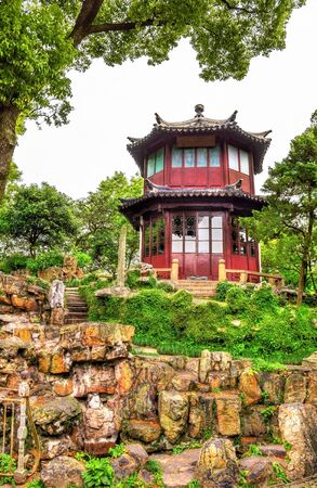 humble: Humble Administrators Garden, the largest garden in Suzhou, China. UNESCO heritage site.