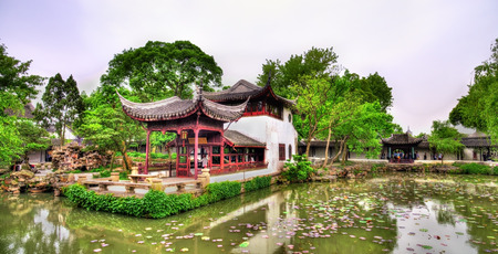 Humble Administrators Garden, the largest garden in Suzhou, China. UNESCO heritage site.