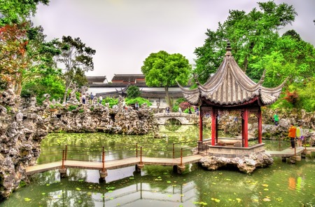The Lion Grove Garden, un sitio de patrimonio de la UNESCO en Suzhou, China