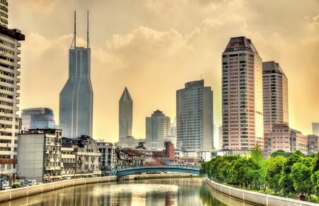 Skyscrapers in Shanghai, the most populous city in China Stock Photo