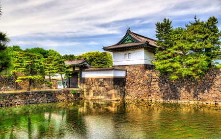 Kikyo Gate, an entrance of the Imperial Palace, Tokyo Stok Fotoğraf