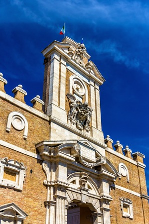 Details of Porta Pia in Rome, Italy Stock Photo